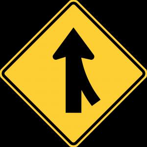 W4-1 Merge Warning Sign