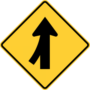 W4-1L Warning Sign