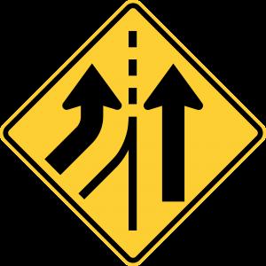W4-3L Warning Sign