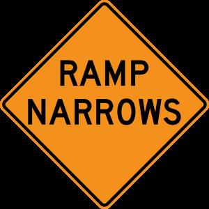 W5-4 Ramp Narrows Warning Sign