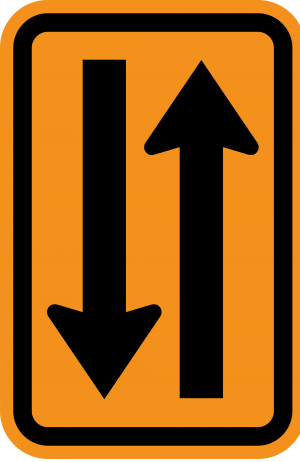 W6-4 TWO WAY TRAFFIC