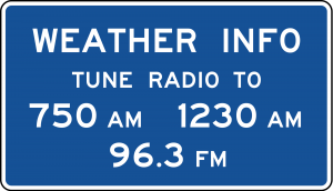 D12-1 Weather Info Guide Sign