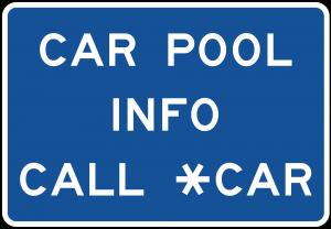 D12-2 Car Pool Information Guide Sign