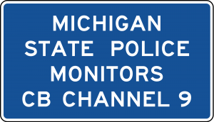 D12-3 Channel 9 Monitored Guide Sign