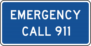 D12-4 Emergency Dial 911 Guide Sign