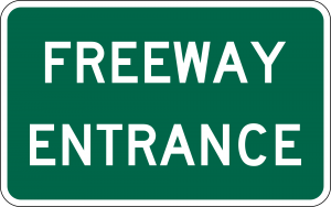 D13-3 Freeway Entrance Guide Sign