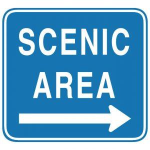 D6-1 Scenic Area Arrow Guide Sign