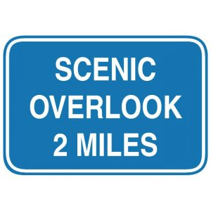 D6-2 Scenic Overlook Distance Guide Sign
