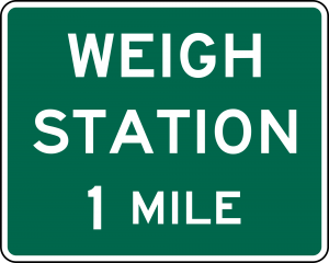 D8-1 Advance Weigh Station Distance Guide Sign Spec