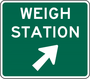D8-3 Weigh Station Exit Direction Guide Sign