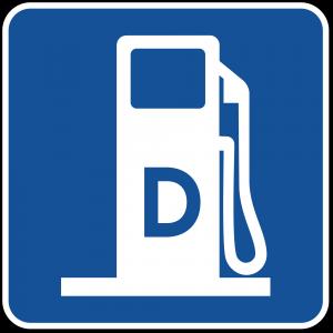 D9-11 Diesel Fuel Guide Sign