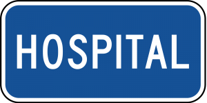 D9-13a Hospital Guide Sign