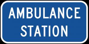 D9-13b Ambulance Station Guide Sign