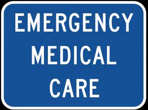 D9-13c Emergency Medical Care Guide Sign