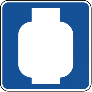 D9-15 Propane Gas Guide Sign