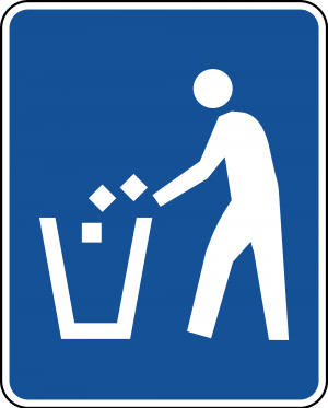 D9-4 Litter Container Guide Sign