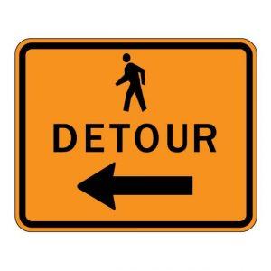 M4-9b Pedestrian Detour Warning Sign