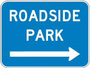 D5-5b Roadside Park Arrow Guide Sign
