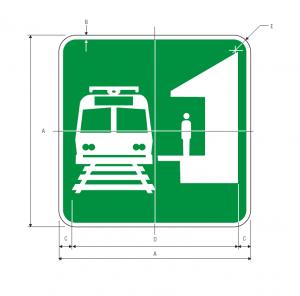 I-12 Light Rail Station Guide Sign Spec