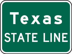 I-2 State Line Guide Sign