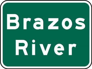 I-3 Brazos River Guide Sign