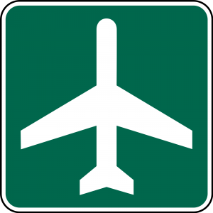 I-5 Airport Guide Sign