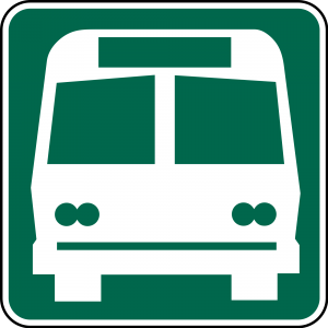 I-6 Bus Station Guide Sign