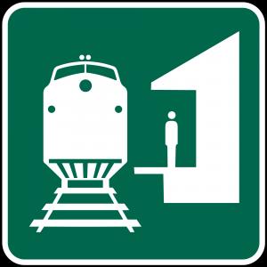 I-7 Train Station Guide Sign