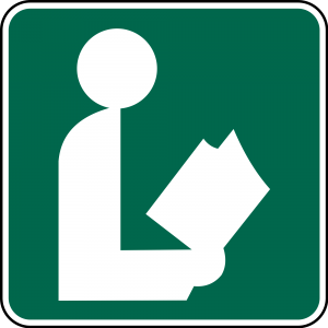 I-8 Library Guide Sign