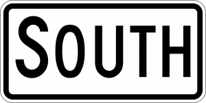 M3-3 Cardinal Direction Auxiliary Guide Sign