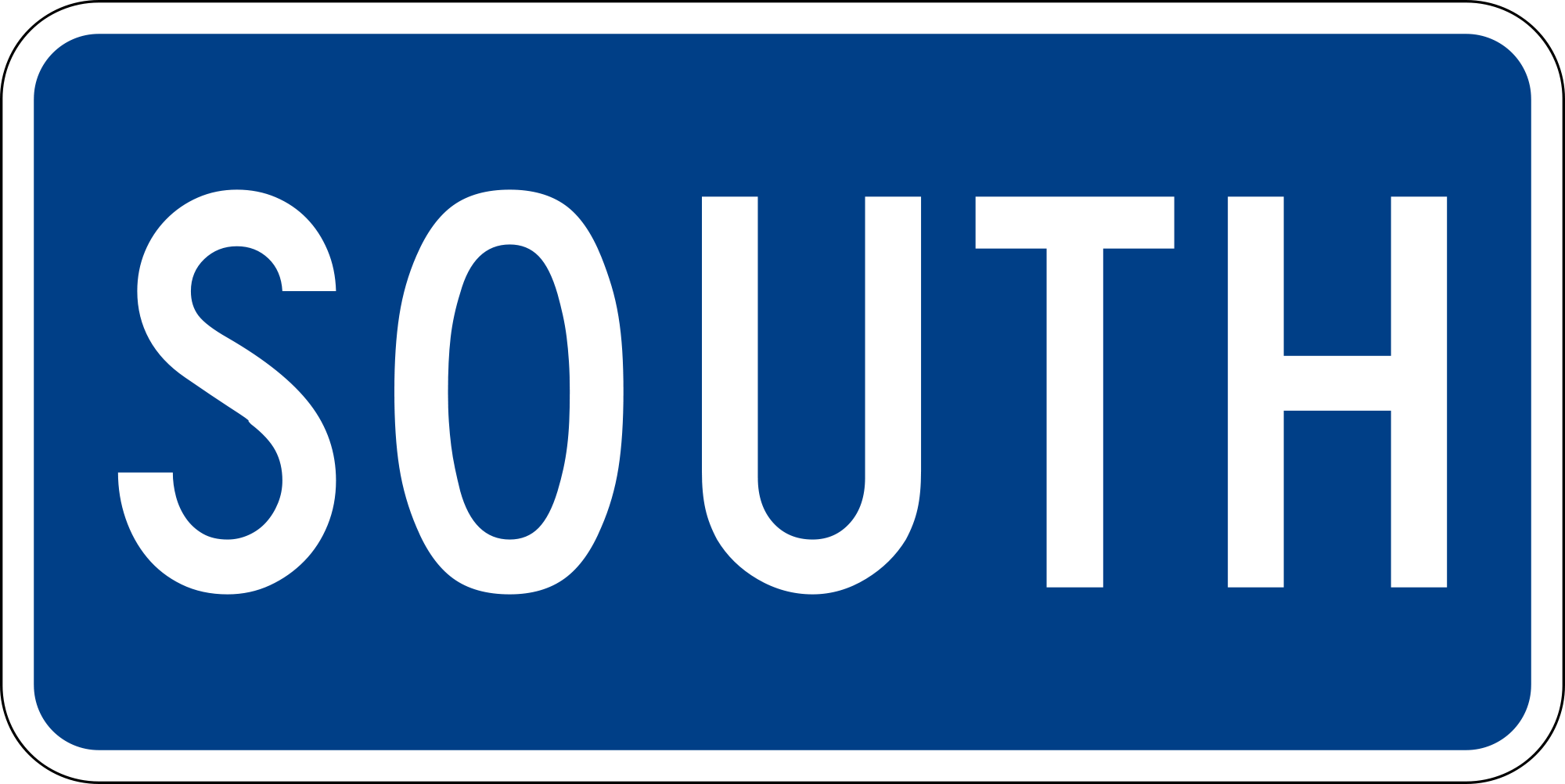 M3-3 Interstate Cardinal Direction Auxiliary Guide Sign