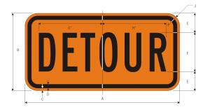 M4-8 Detour Warning Sign Spec