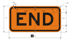 M4-8b End Warning Sign Spec