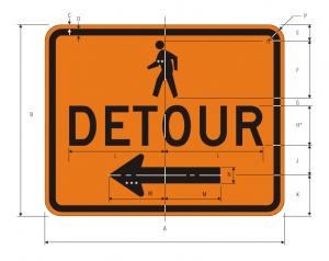 m4-9b-pedestrian-detour-warning-sign-spec