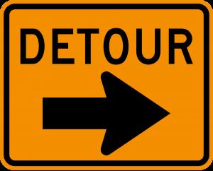 M4-9R Detour Warning Sign