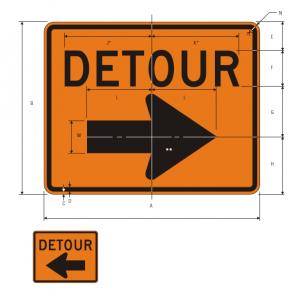 M4-9R Detour Warning Sign Spec