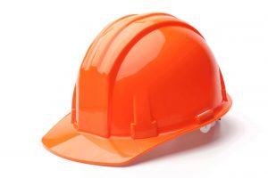 orange HDPE Hard Hat Apparel