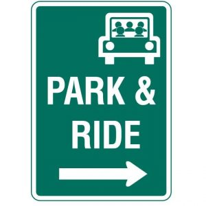 D4-2 Park and Ride Guide Sign