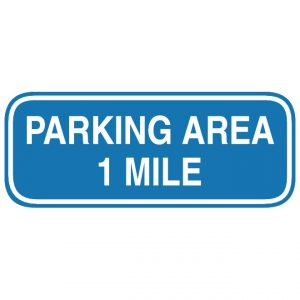 D5-3 Advance Parking Area Distance Guide Sign
