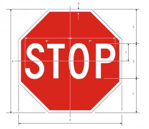 R1-1 Stop Regulatory Sign Spec