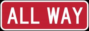 R1-4 All Way Regulatory Sign