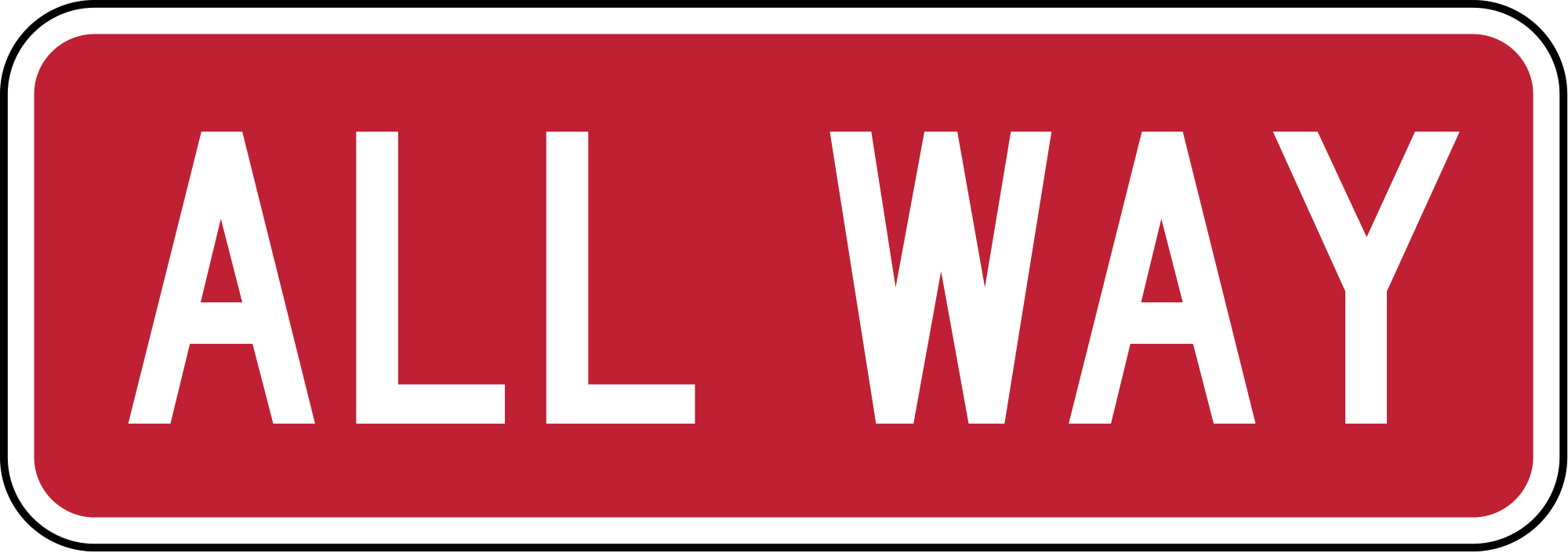R1-4 All Way Regulatory Sign