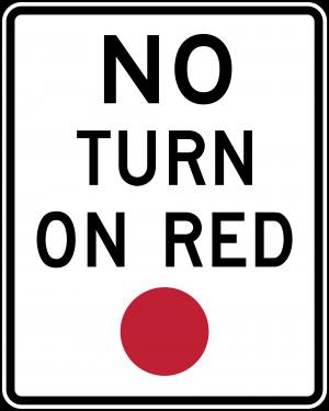 R10-11 No Turn On Red Regulatory Sign
