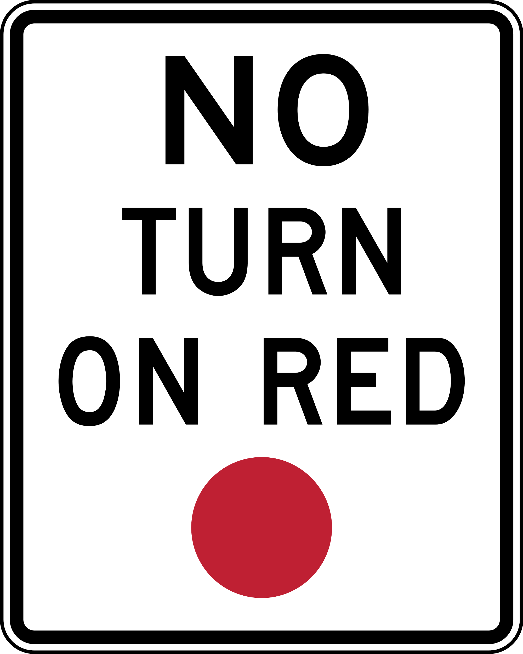 R10-11 No Turn On Red Regulatory Sign