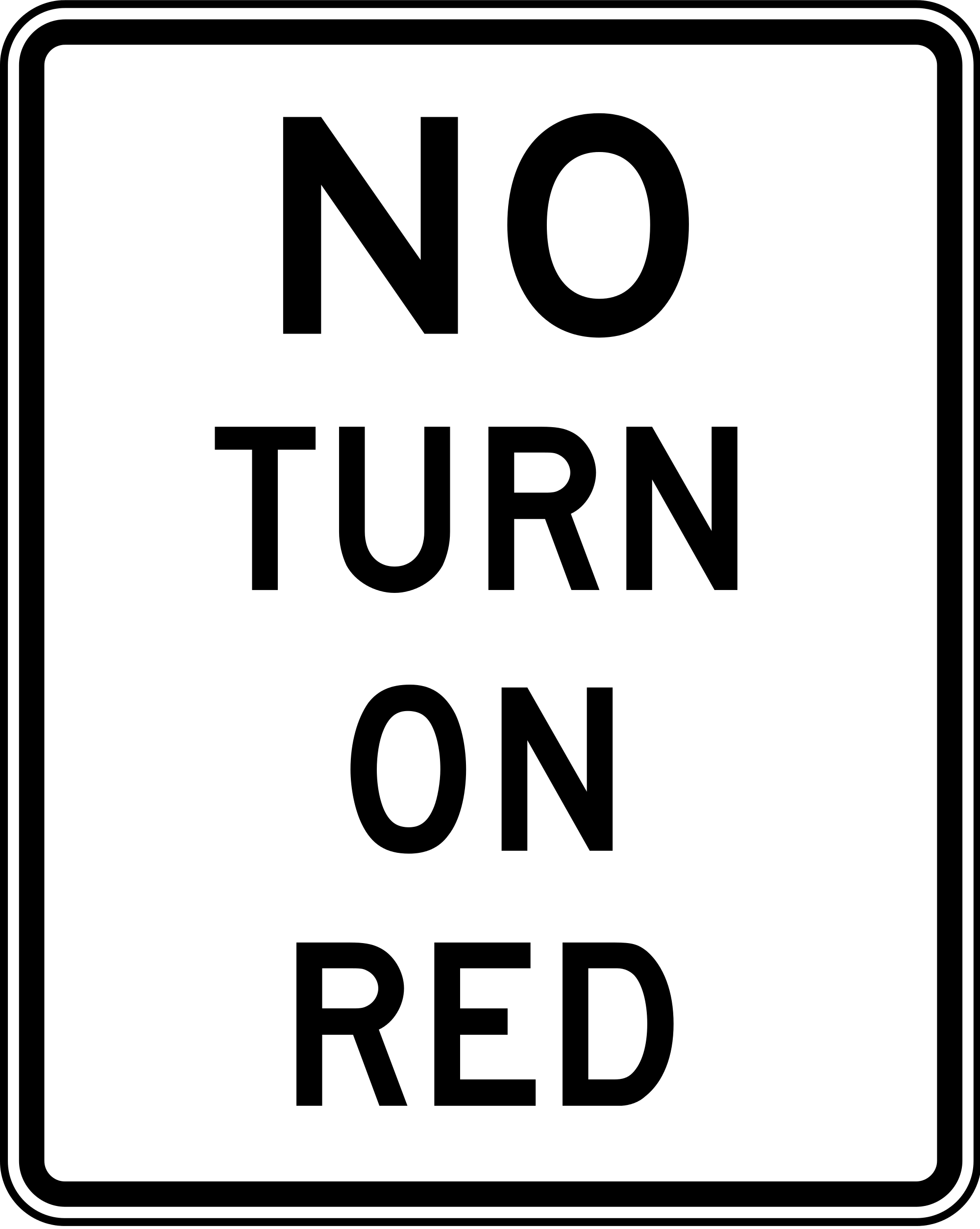 R10-11a No Turn On Red Regulatory Sign