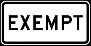 R15-3 W10 1a Exempt Grade Crossing Regulatory Sign