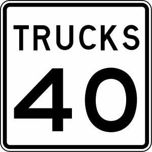 R2-2 Truck Speed Limit Regulatory Sign