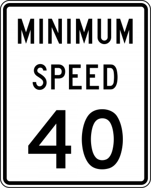 R2-4 Minimum Speed Limit English Regulatory Sign