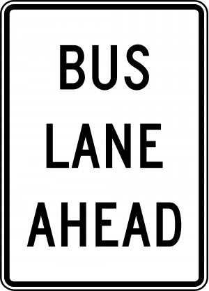R3-10a Preferential Only Lane Ahead Ground Mounted Regulatory Sign