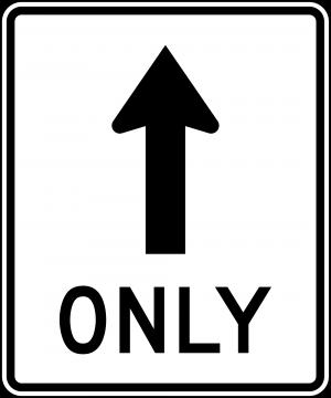 R3-5a Mandatory Movement Lane Control Regulatory Sign